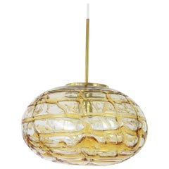 Murano Ball Pendant Light by Doria, Germany, 1970s