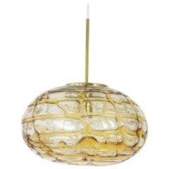Murano Ball Pendant Light by Doria, Germany, 1970s