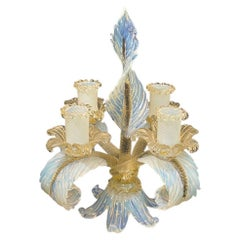 """Murano """"Barocchi"""" Series by Barovier & Toso Candle Holder, Italy"""