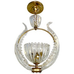 Murano Blown Glass Light Fixture