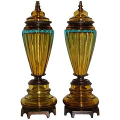Murano Blown Glass Table Lamps