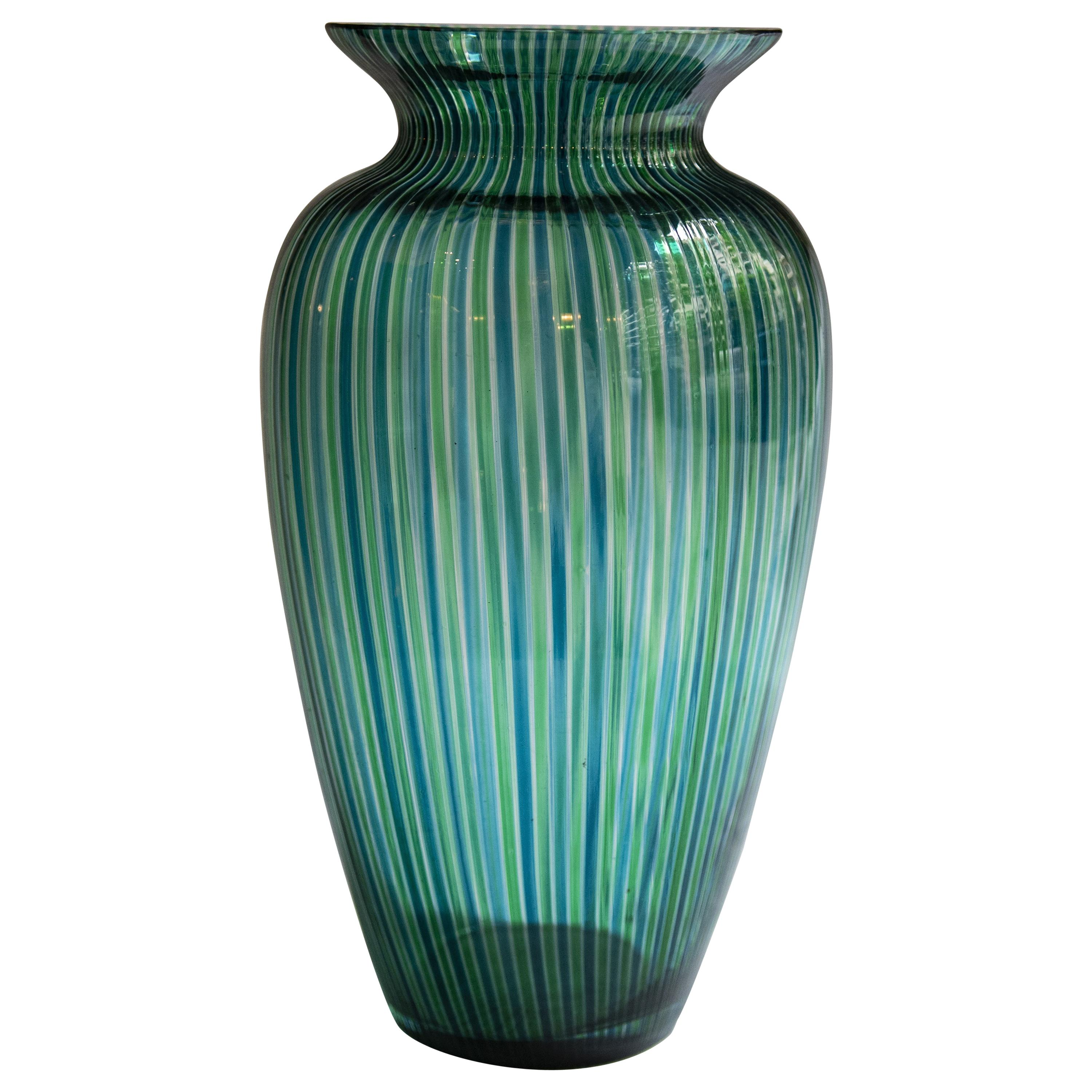 Murano Blown Glass Vase Atributted to Gio Ponti, 1960s