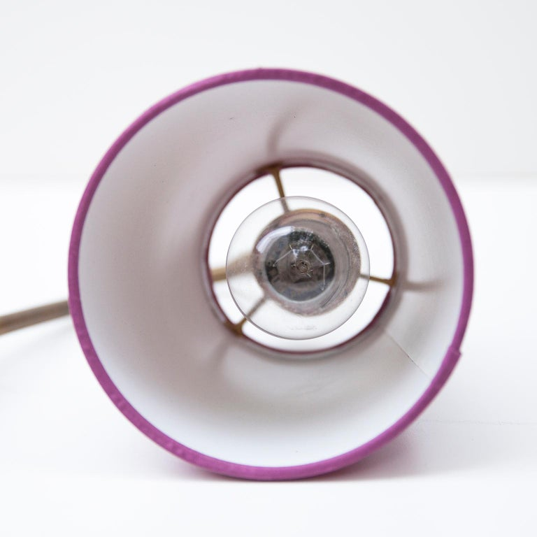 Murano Blue Purple Glass Table Lamp, 1950s For Sale 2