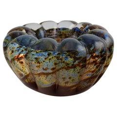 Murano Bowl in Mouth-Blown Art Glass, Italian Design, 1960s-1970s
