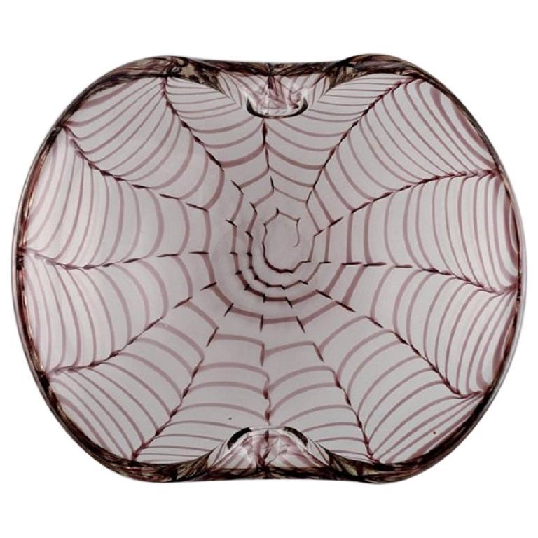 Murano Bowl in Mouth Blown Art Glass, Italian Design, 1960s