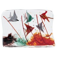 """Murano """"Cenedese"""" Glass Aquarium, Italy, 1950's"""