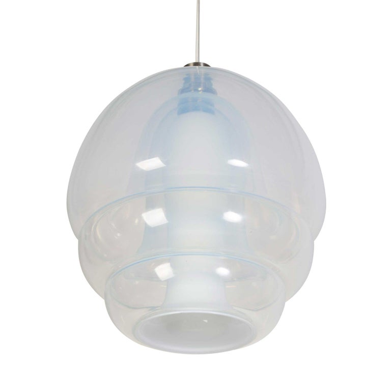 Mid-20th Century Murano Chandelier Hanging Pendant for Mazzega by Carlo Nason For Sale