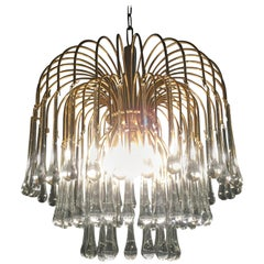 Murano Chandelier in the Style of Venini, 1960s