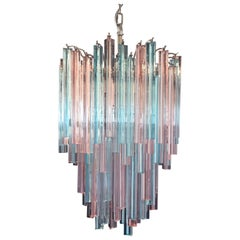 Murano Chandelier Triedri, 92 Prism, Multicolored Glasses