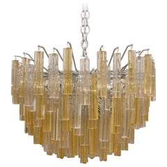 Murano Glass Crystal Chandelier by Venini