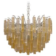 Murano Glass Crystal Chandelier by Venini