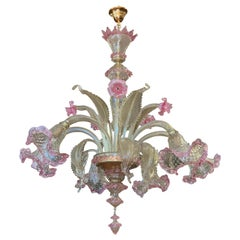 Murano Crystal Chandelier Made in Italy, Hand Blown and Handcrafted