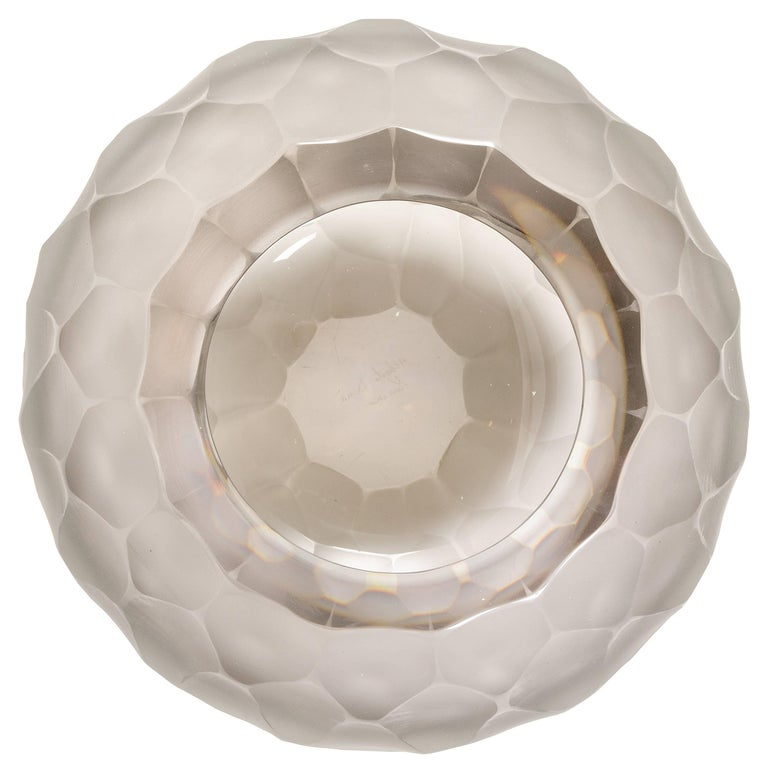 Faceted Murano Facetted Gray Glass