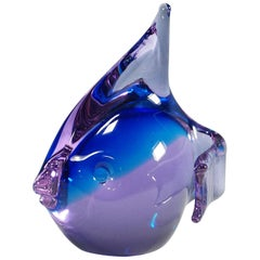 Murano Fish Sculpture by Livio Seguso for Gral, Germany, ca. 1970ties