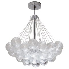 Murano Floating Clustered Globe Chandelier in Polished Nickel
