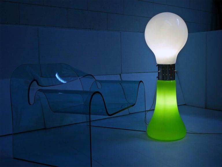 Mid-20th Century Murano Floor Lamp 'Birillo' by Carlo Nason for Mazzega, with Green Glass, 1960s For Sale