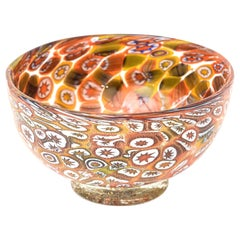 Murano Fratelli Toso Murrine Glass Bowl