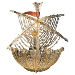 Murano Galleon Light by Seguso for Veronese