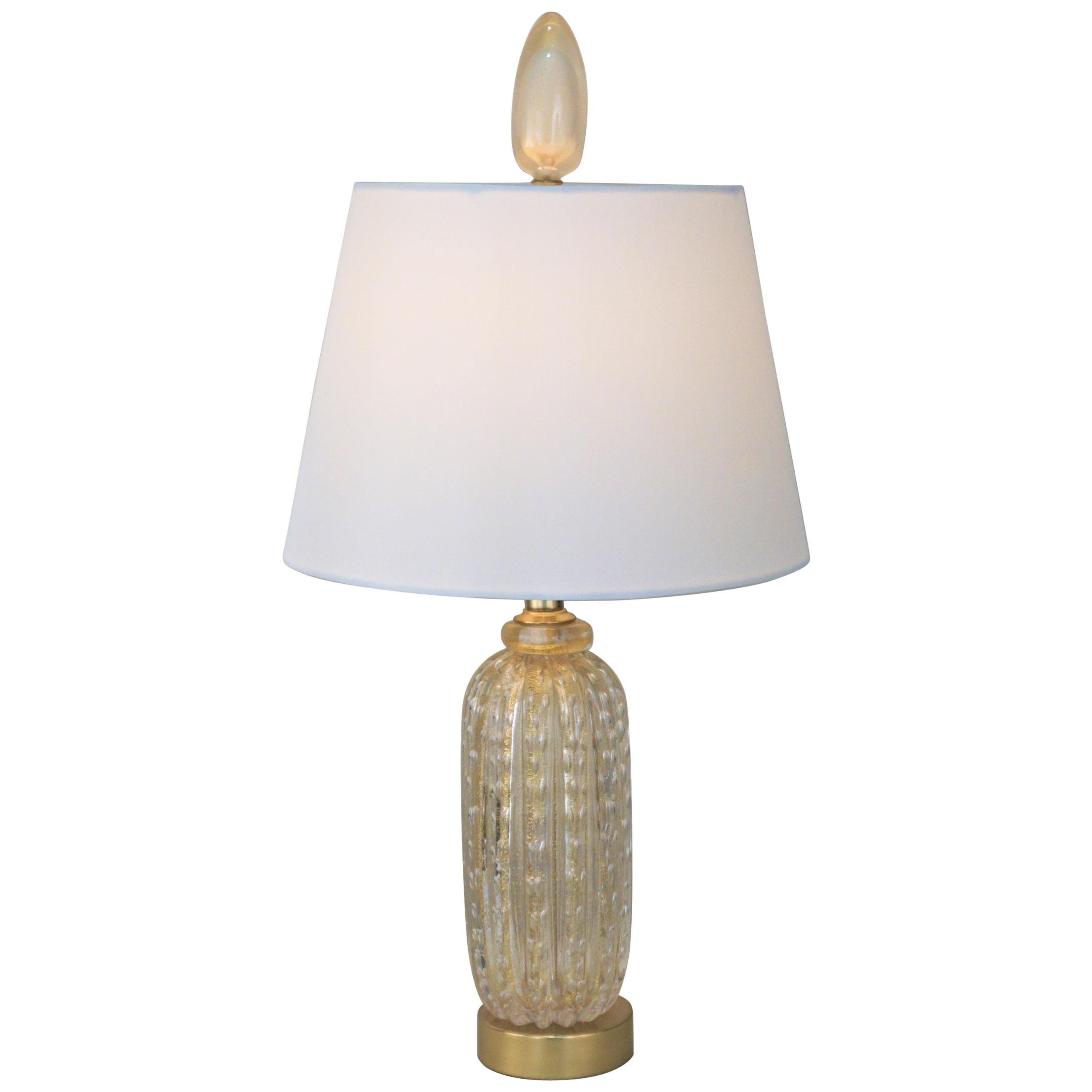 Murano Glass 1970s Table Lamp