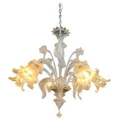 Murano Glass 6-Light Chandelier
