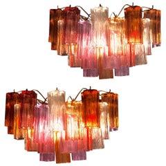 Murano Glass Amazing Multi-Color Scones in the style of Venini