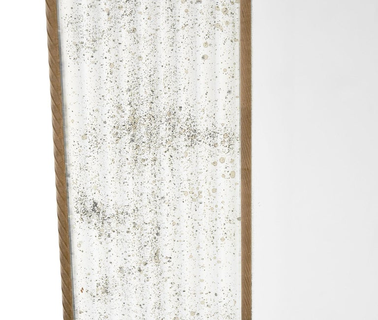 Murano Glass Amber Leaf Mirror by Fuga In Good Condition For Sale In Austin, TX