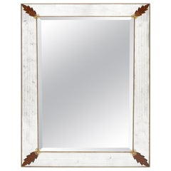 Murano Glass Amber Leaf Mirror by Fuga