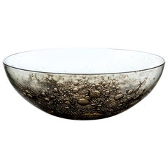 Murano Glass and Brass Bowl Handmade in Italy by Stories of Italy