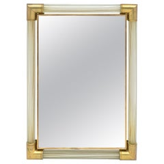 Murano Glass and Brass Mirror by Fuga