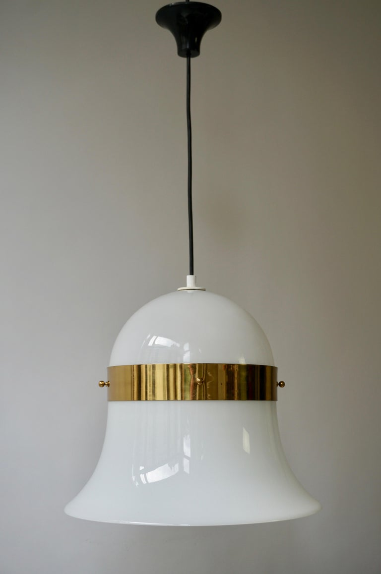 20th Century Murano Glass and Brass Penant Light For Sale