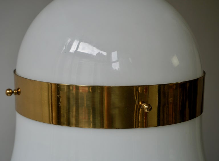 Murano Glass and Brass Penant Light For Sale 3