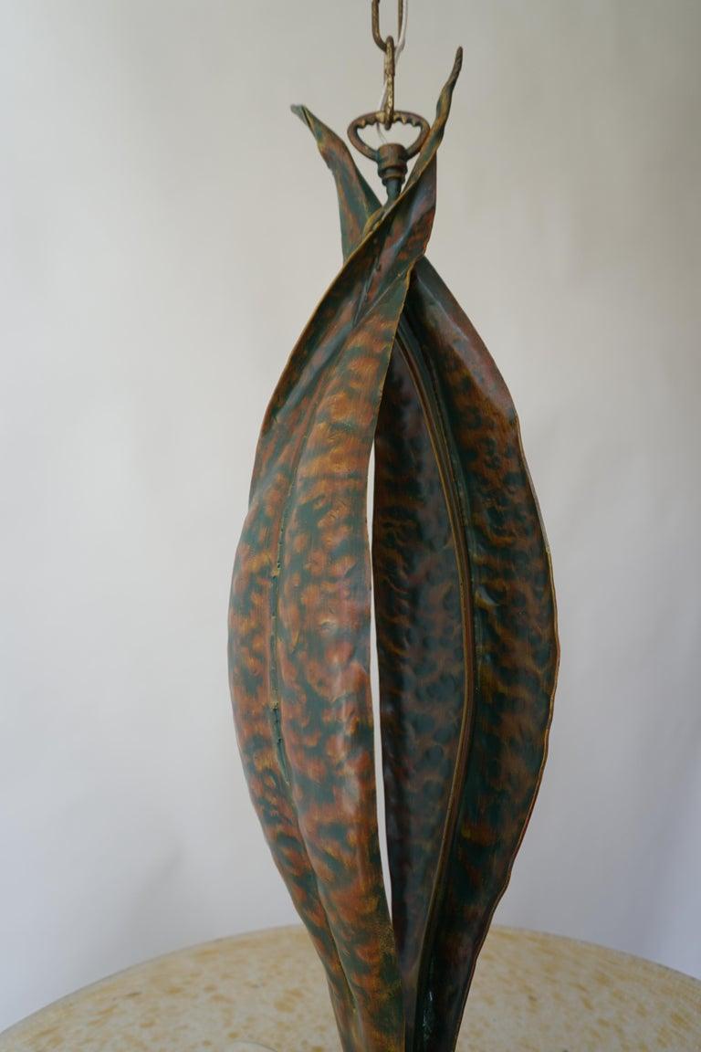 Murano Glass and Bronze Pendant Light  For Sale 7
