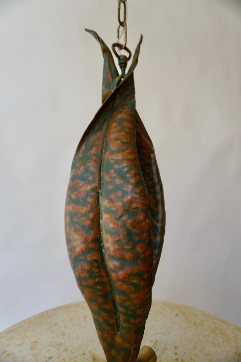 Murano Glass and Bronze Pendant Light  For Sale 8