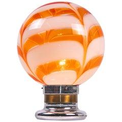 AV Mazzega Table Lamp Orange Murano Glass, Italy, 1970s