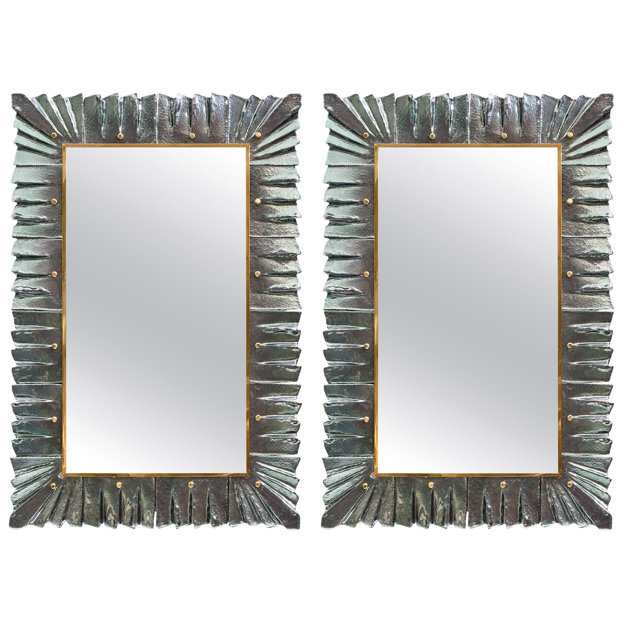 Murano Glass Aqua Mirrors