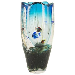 Murano Glass Aquarium Vase by Romano Donà