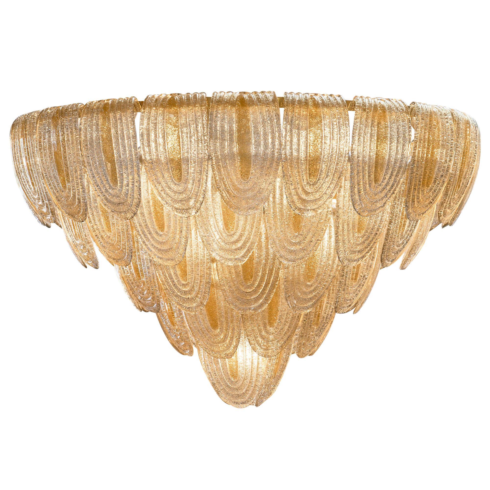 Murano Glass Art Deco Style Chandelier