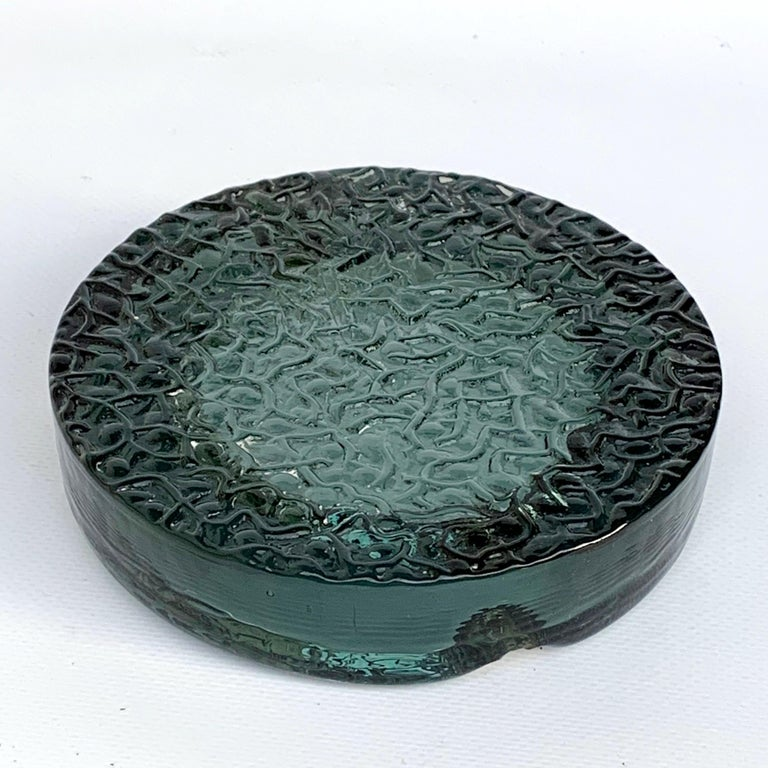 Murano Glass Ashtray with Sterling Silver Details, Italy, 1960s For Sale 3