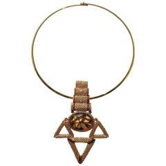 Murano glass beads hand made gold fashion neklace by Venetian artist Paola B.