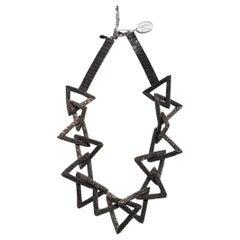 Murano glass beads handmade silver fashion necklace by Venetian artist Paola B.