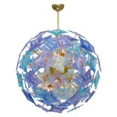 Murano Glass Blue and Purple Sputnik