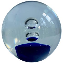 Murano Glass Blue Paperweight