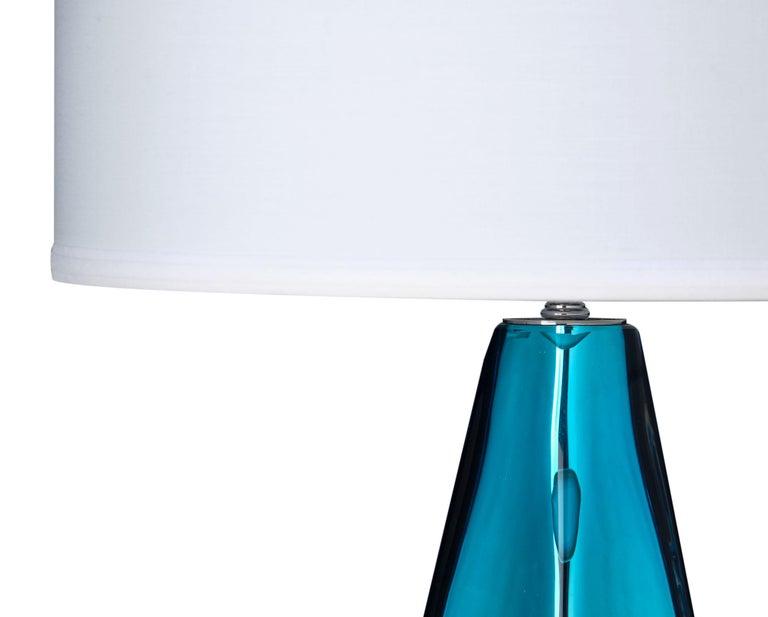 """Modern Murano Glass Blue """"Specchiate"""" Lamps For Sale"""