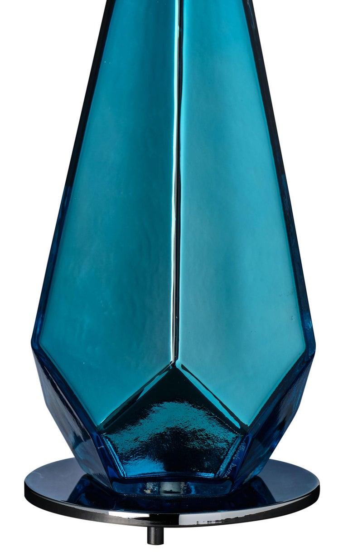 """Italian Murano Glass Blue """"Specchiate"""" Lamps For Sale"""