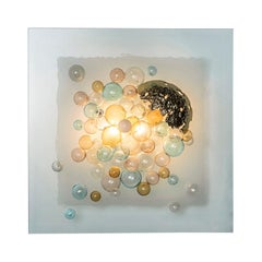 "Murano Glass ""Bolle in Aria"" Wall Sconce, Angelo Brotto"