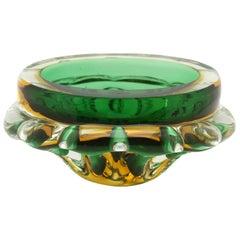 Murano Glass Bowl Attributed to Flavio Poli for Seguso D'arte, circa 1960