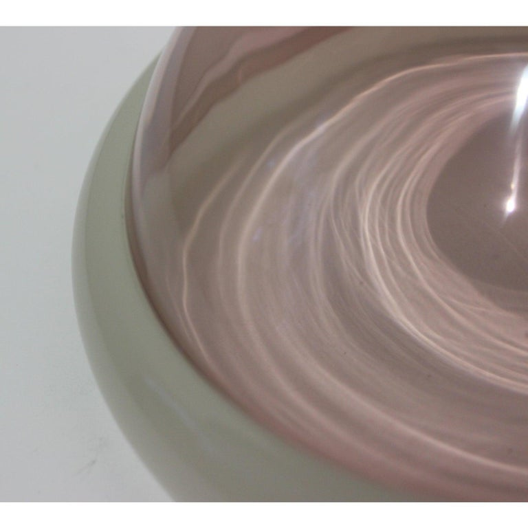 Hand-Crafted Murano Glass Bowl by Seguso For Sale
