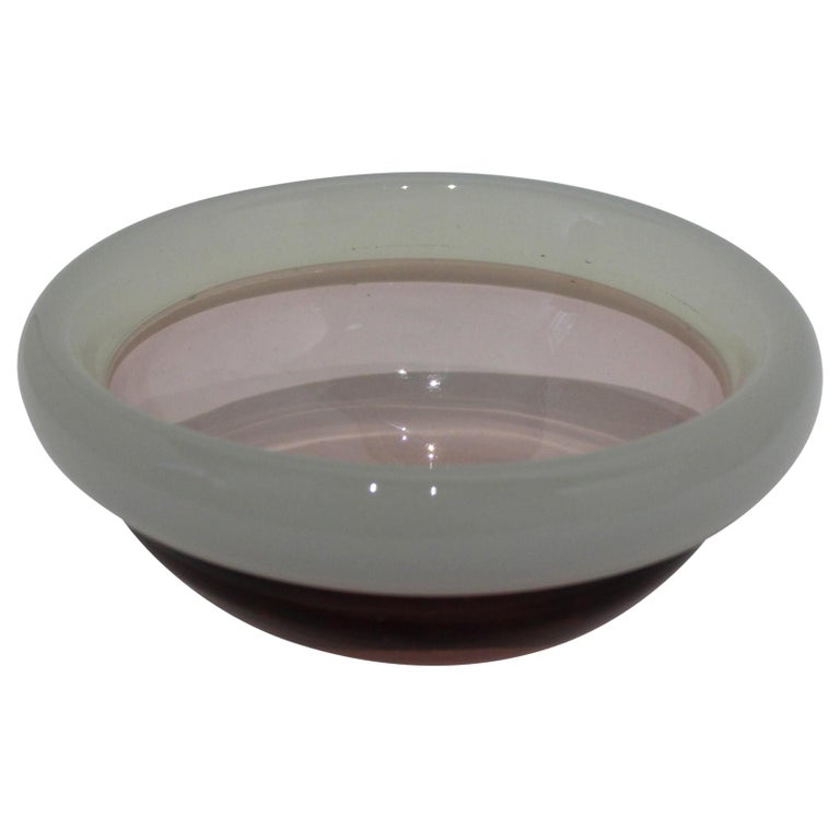 Murano Glass Bowl by Seguso For Sale