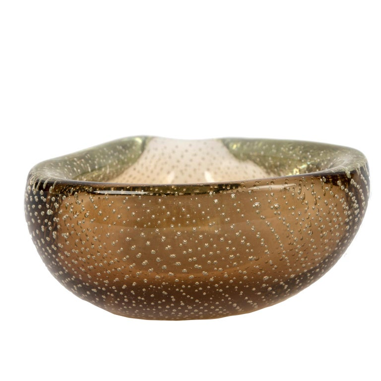 Hand-Crafted Murano Glass Bowl, Italy, 1960 For Sale