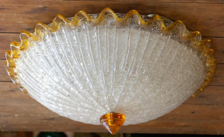 Mid-Century Modern Murano Glass Ceiling Fixture For Sale